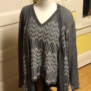 NWOT Jones New York COLLECTION Sweater W Cardigan